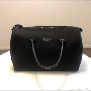 Jimmy choo black travel large bag with strap